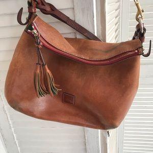 Dooney & Bourke leather bag orangish tan leather